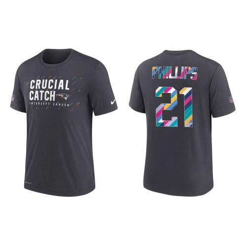 Adrian Phillips New England Patriots Nike Charcoal 2021 NFL Crucial Catch Performance T-Shirt