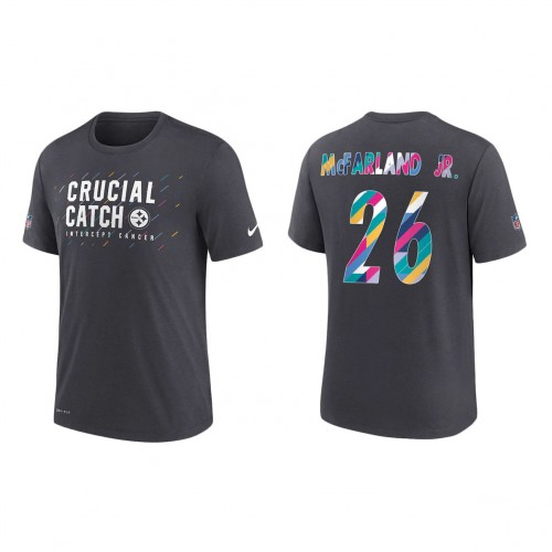 Anthony McFarland Jr. Pittsburgh Steelers Nike Charcoal 2021 NFL Crucial Catch Performance T-Shirt