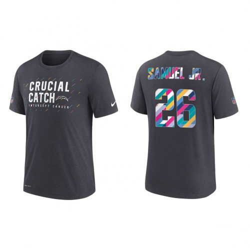 Asante Samuel Jr. Los Angeles Chargers Nike Charcoal 2021 NFL Crucial Catch Performance T-Shirt