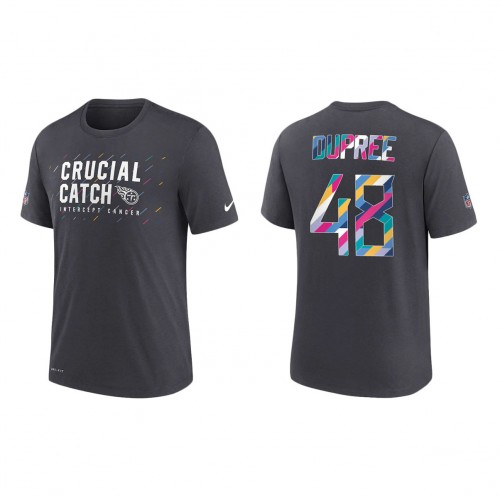 Bud Dupree Tennessee Titans Nike Charcoal 2021 NFL Crucial Catch Performance T-Shirt