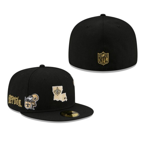 Men's New Orleans Saints Black Just Don 59FIFTY Fitted Hat