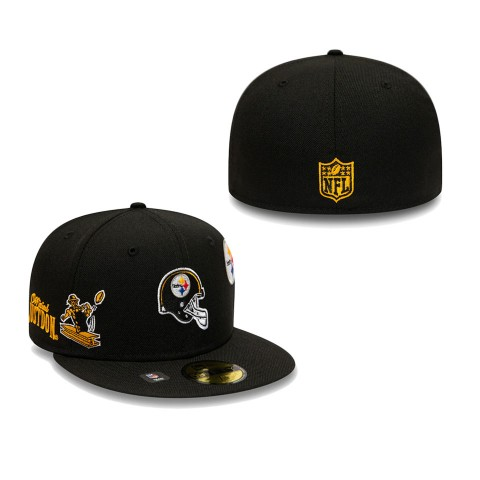 Men's Pittsburgh Steelers Black Just Don 59FIFTY Fitted Hat