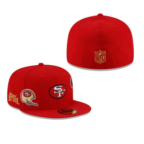 Men's San Francisco 49ers Scarlet Just Don 59FIFTY Fitted Hat