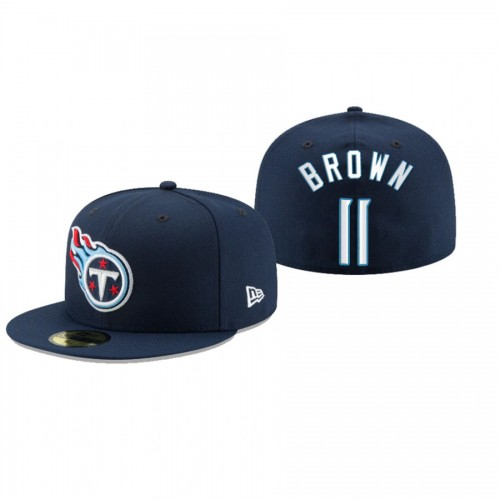 A.J. Brown Titans Navy Omaha 59FIFTY Fitted Hat