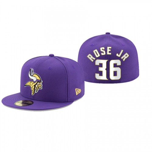 A.J. Rose Jr. Vikings Purple Omaha 59FIFTY Fitted Hat