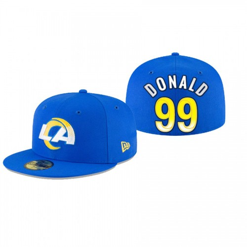 Aaron Donald Rams Royal Omaha 59FIFTY Fitted Hat