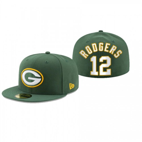 Aaron Rodgers Packers Green Omaha 59FIFTY Fitted Hat