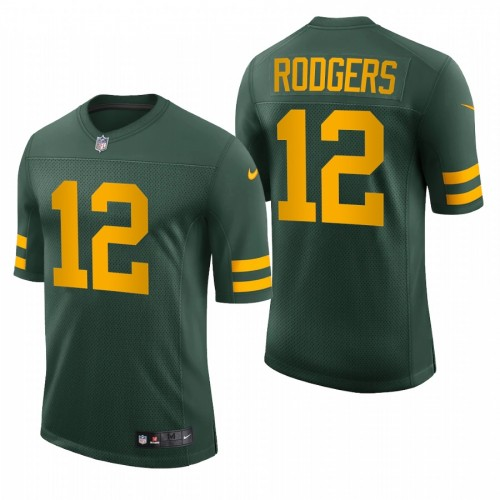 Aaron Rodgers Green Bay Packers Green Throwback Vapor Limited Jersey