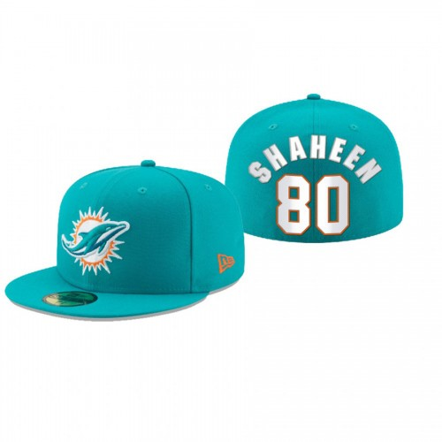 Adam Shaheen Dolphins Aqua Omaha 59FIFTY Fitted Hat