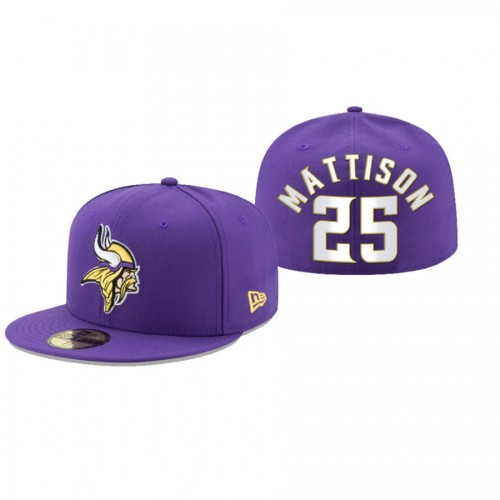 Alexander Mattison Vikings Purple Omaha 59FIFTY Fitted Hat