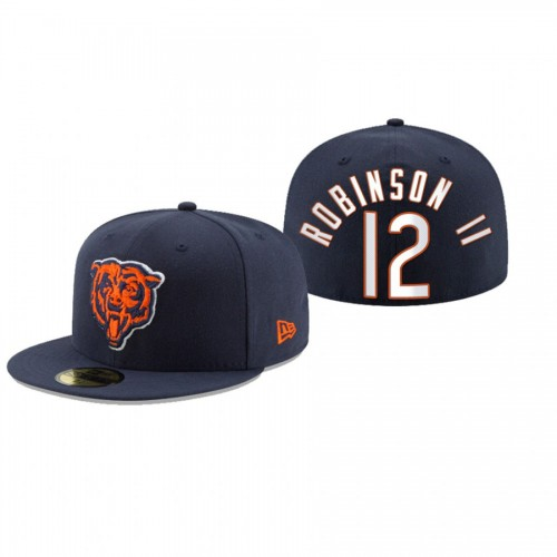 Allen Robinson II Bears Navy Omaha 59FIFTY Fitted Hat