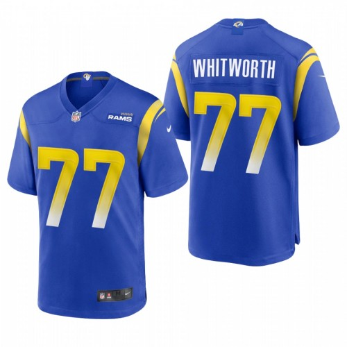 Andrew Whitworth #77 Los Angeles Rams Royal 2020 Game Jersey