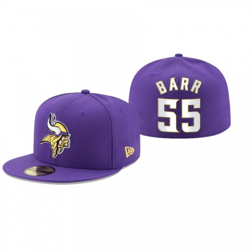 Anthony Barr Vikings Purple Omaha 59FIFTY Fitted Hat