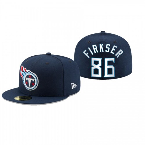 Anthony Firkser Titans Navy Omaha 59FIFTY Fitted Hat