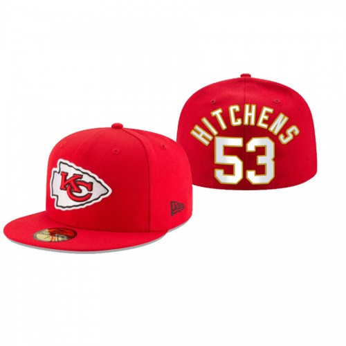 Anthony Hitchens Chiefs Red Omaha 59FIFTY Fitted Hat