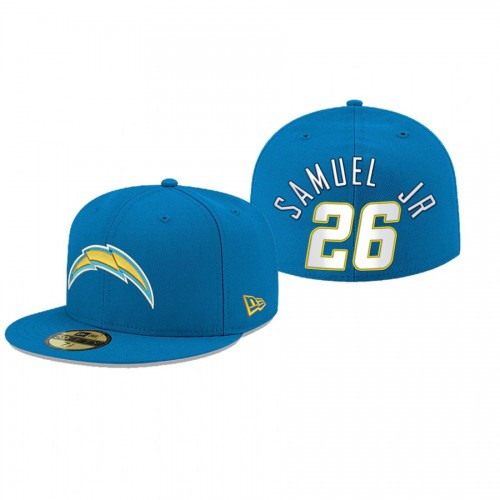 Asante Samuel Jr. Chargers Powder Blue Omaha 59FIFTY Fitted Hat