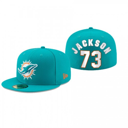 Austin Jackson Dolphins Aqua Omaha 59FIFTY Fitted Hat