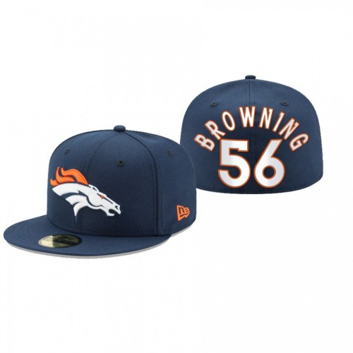 Baron Browning Broncos Navy Omaha 59FIFTY Fitted Hat