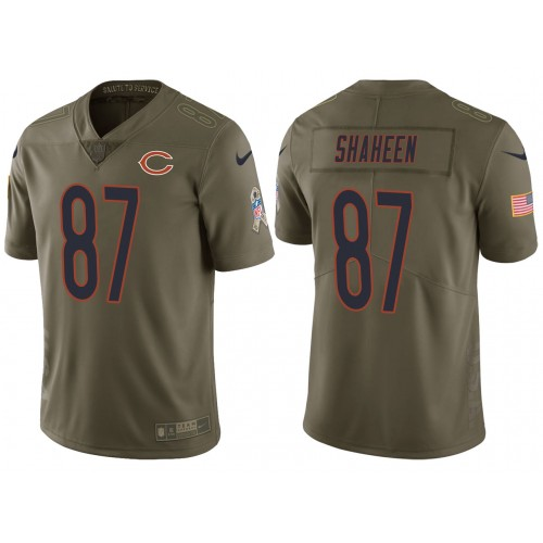 Adam Shaheen Chicago Bears Olive 2017 Salute to Service Vapor Untouchable Limited Jersey