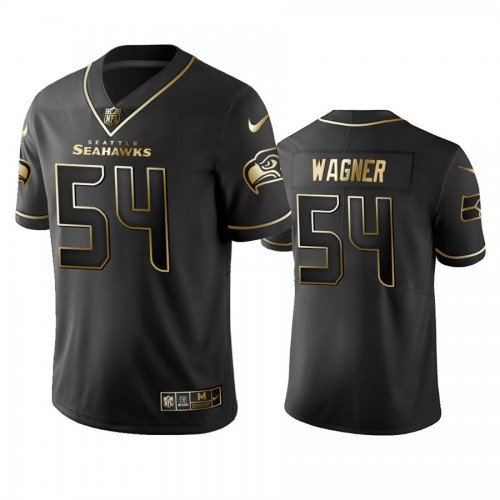 2019 Seahawks Bobby Wagner Golden Edition Black Jersey for NFL 100th Anniversary