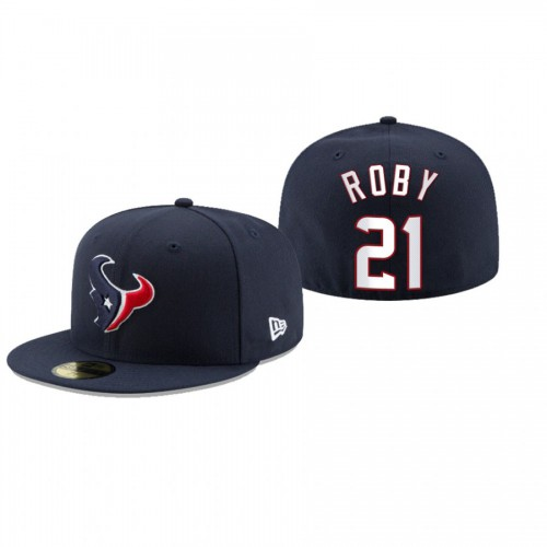 Bradley Roby Texans Navy Omaha 59FIFTY Fitted Hat