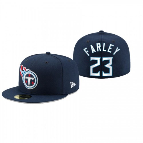 Caleb Farley Titans Navy Omaha 59FIFTY Fitted Hat