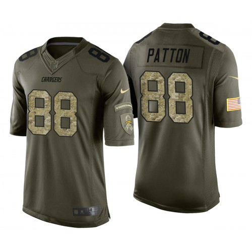 Andre Patton Los Angeles Chargers Green Camo Salute to Service Jersey