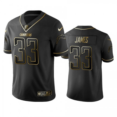 2019 Chargers Derwin James Golden Edition Black NFL 100th Anniversary Jersey