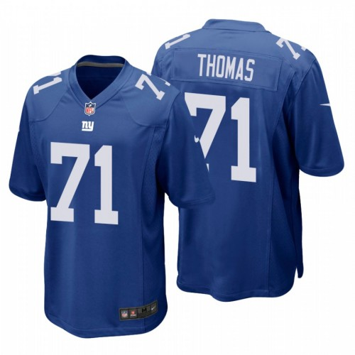 Andrew Thomas #71 New York Giants Royal Game Jersey 2020 NFL Draft