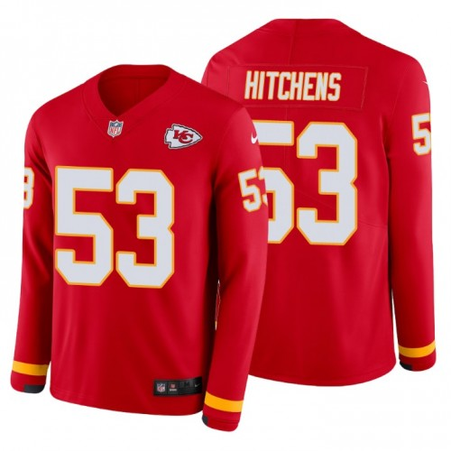 Anthony Hitchens #53 Kansas City Chiefs Therma Long Sleeve Red Jersey