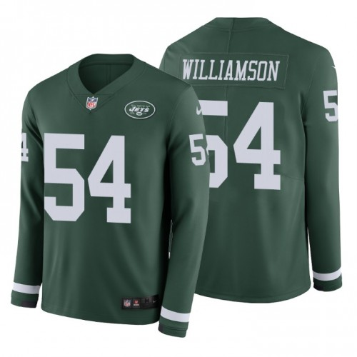 Avery Williamson #54 New York Jets Therma Long Sleeve Green Jersey