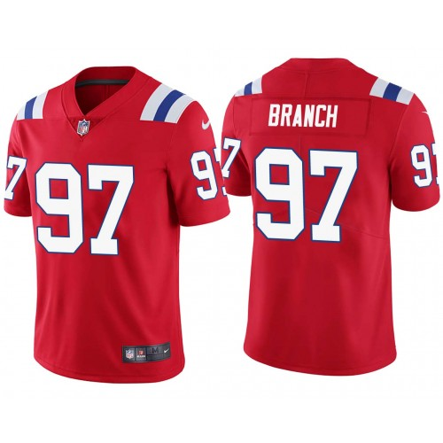 Alan Branch New England Patriots Red Vapor Untouchable Limited Jersey