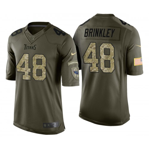 Beau Brinkley Tennessee Titans Green Camo Salute to Service Jersey